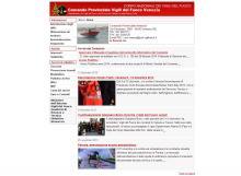 Il sito del Comando Provinciale dei VVF di Venezia